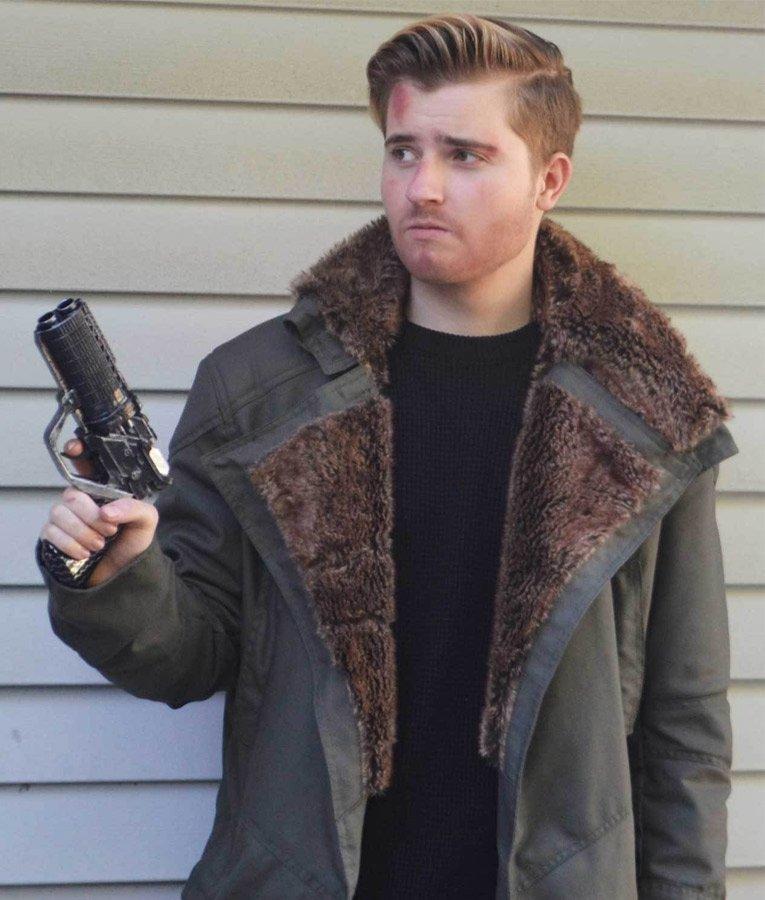 Men/'s Ryan Goshling Blade Runner 2049 Long Black Cotton Fur Trench Coat