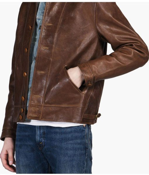 albert-einstein-brown-leather-jacket
