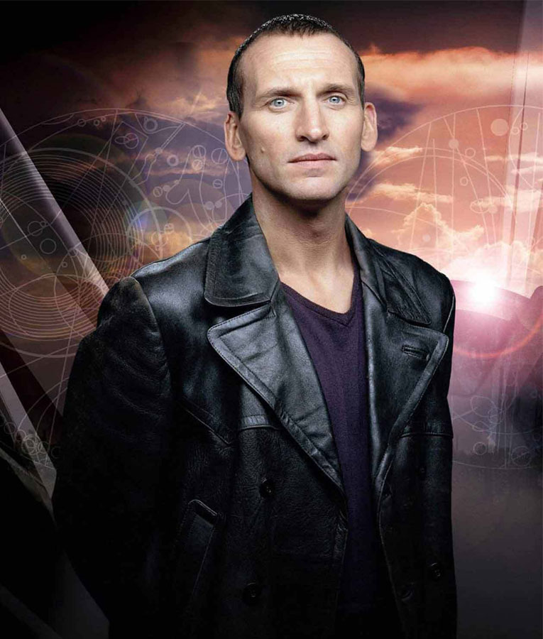 Red Smoke Christopher Eccleston Ninth Doctor Who Black Leather Jacket