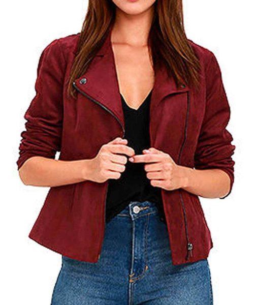 arrow-willa-holland-red-suede-jacket