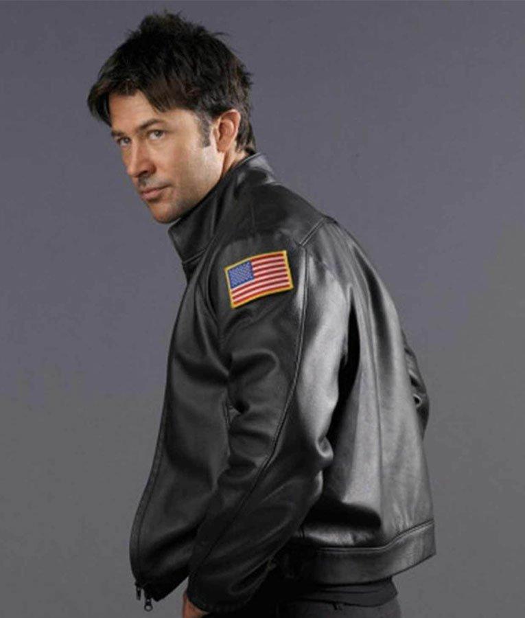 Stargate Atlantis Leather Jacket | John Sheppard Jacket - Jackets Expert