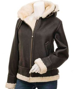 womens-brown-leather-shearling-jacket