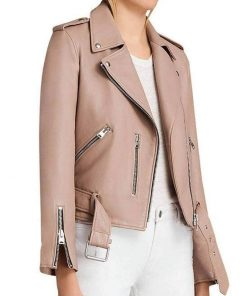arrow-willa-holland-pink-leather-jacket