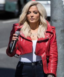 bebe-rexha-red-leather-jacket