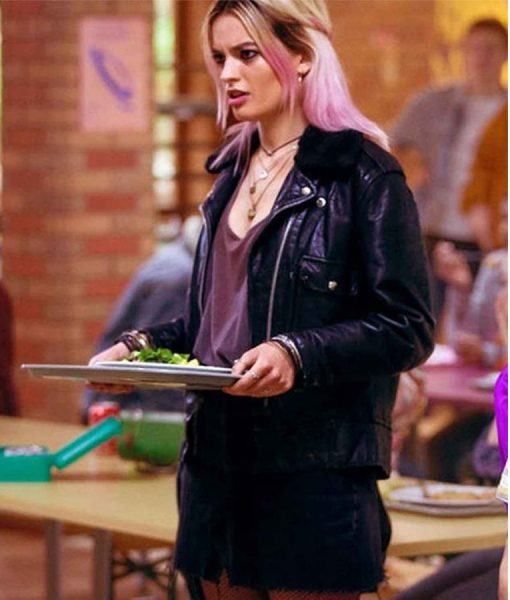 emma-mackey-leather-jacket