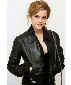 emma-watson-black-leather-jacket