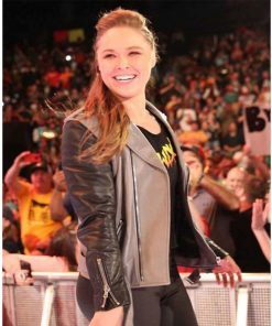 ronda-rousey-black-and-grey-jacket