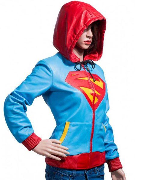 supergirl-leather-hoodie