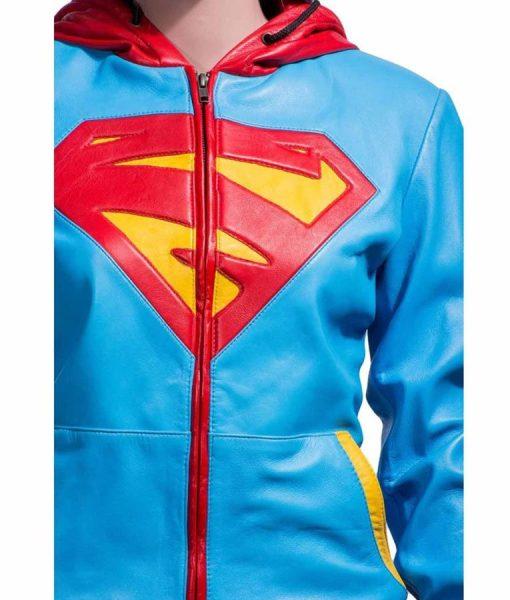 supergirl-logo-leather-hoodie