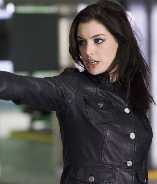 agent-99-anne-hathaway-black-leather-jacket