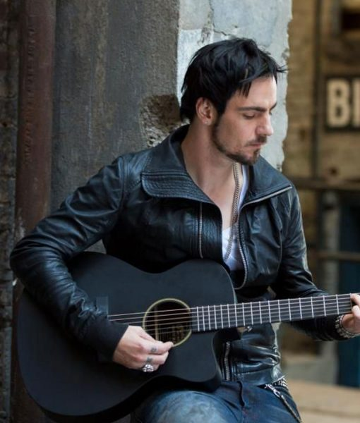 adam-gontier-leather-jacket