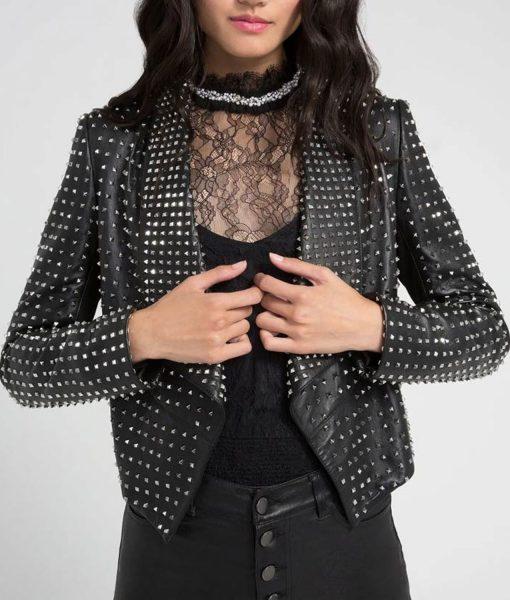 kyle-richards-studded-leather-jacket
