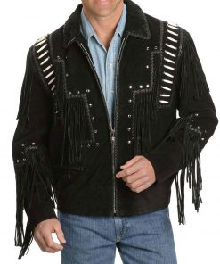 mens-black-fringe-jacket