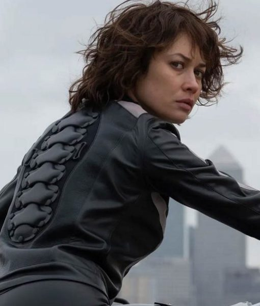 the-courier-olga-kurylenko-leather-jacket