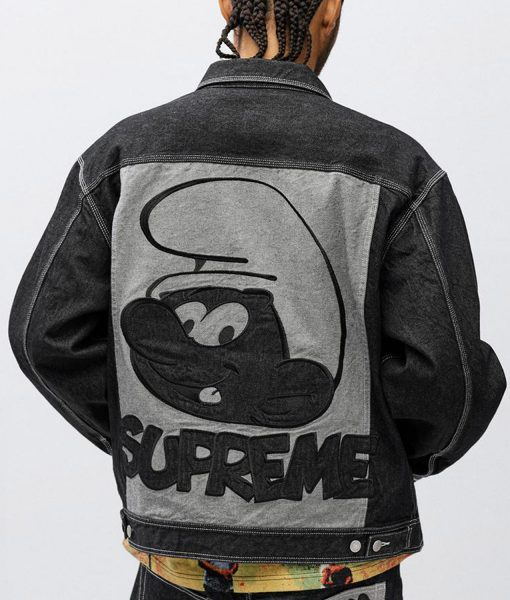 supreme-smurfs-black-denim-jacket