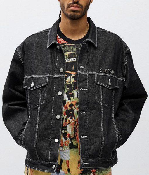 supreme-smurfs-black-jacket