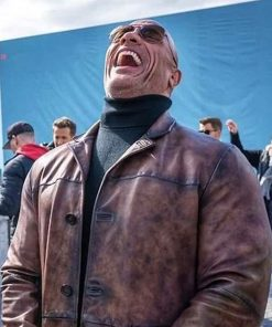 dwayne-johnson-red-notice-leather-coat