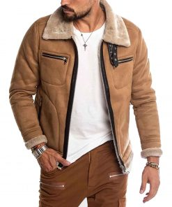 mens-brown-suede-shearling-jacket