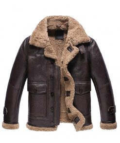 mens-dark-brown-shearling-leather-jacket