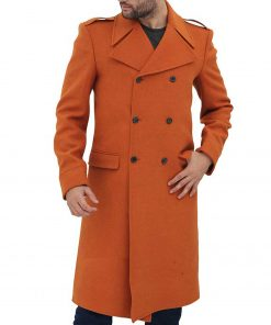 mens-orange-double-breasted-coat
