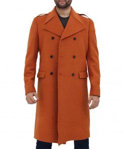 mens-orange-wool-coat