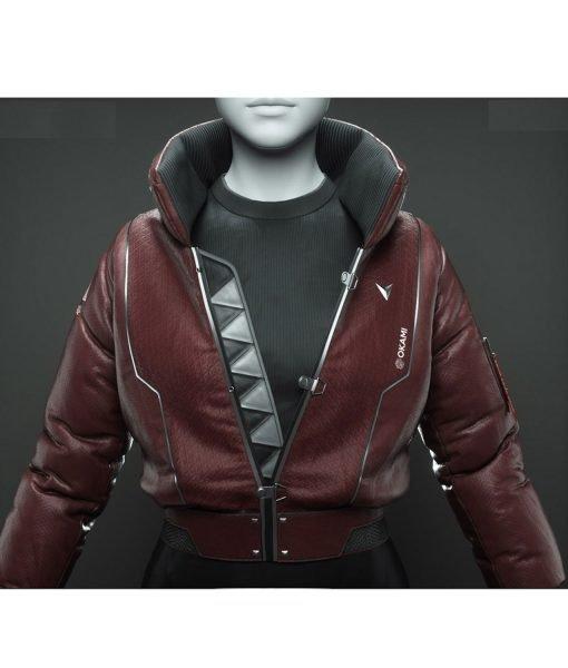 cyberpunk-poser-maroon-laether-jacket