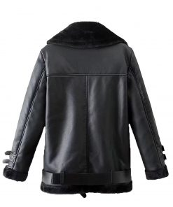 mens-belted-black-shearling-leather-jacket