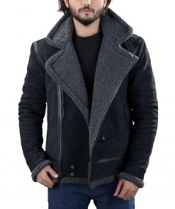 mens-black-leather-shearling-jacket