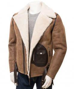mens-distressed-leather-shearling-jacket