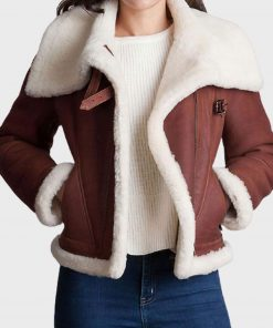 womens-brown-shearling-jacket