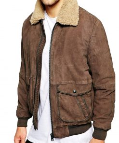 mens-sherpa-collar-brown-leather-jacket