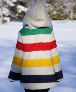 rachel-bilson-multi-colour-poncho