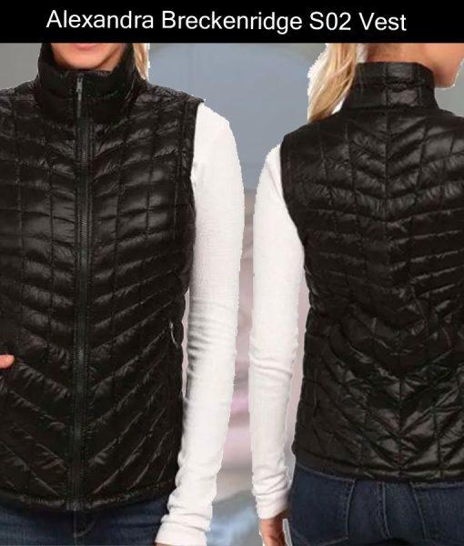 melinda-monroe-black-puffer-vest