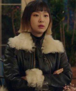 itaewon-class-kim-da-mi-leather-jacket-with-fur-collar
