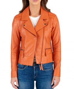 asymmetrical-orange-motorcycle-jacket