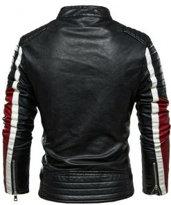 slim-fit-black-white-and-red-jacket