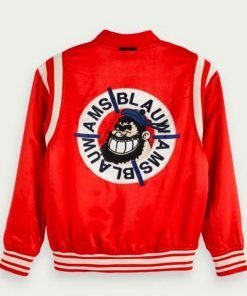 911-aisha-hinds-red-bomber-jacket