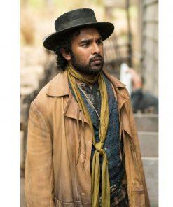 himesh-patel-the-luminaries-leather-coat