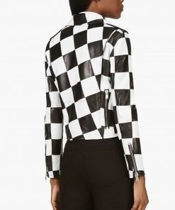 the-bold-and-the-beautiful-diamond-white-checkered-leather-jacket