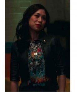 the-equalizer-liza-lapira-cropped-leather-jacket