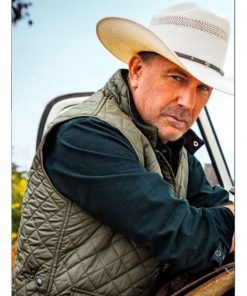 yellowstone-kevin-costner-green-quilted-vest
