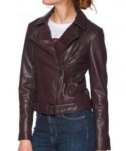 betty-cooper-maroon-leather-jacket