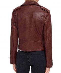 kung-fu-olivia-liang-maroon-leather-jacket