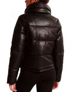 nancy-drew-leah-lewis-puffer-leather-jacket