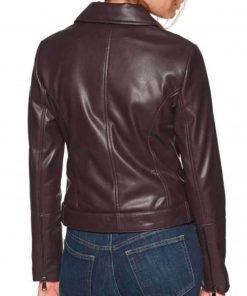 riverdale-season-05-lili-reinhart-maroon-leather-jacket