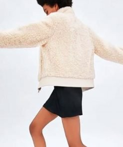 the-young-and-the-restless-reylynn-caster-white-sherpa-jacket
